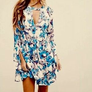 Free People 2 Tegan Printed long sleeve dress
